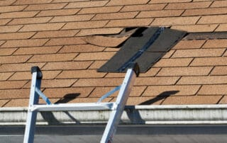 signs of roof damage in Annapolis