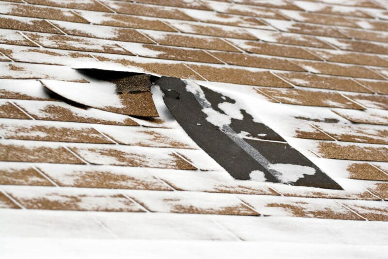 Damaged roof in Annapolis