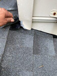 flashing damage due to roof leak